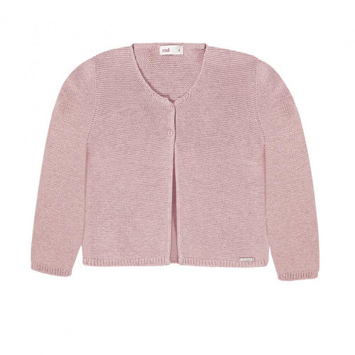 Condor Garter Stitch  Pale Pink Cardigan - souzu.co.uk