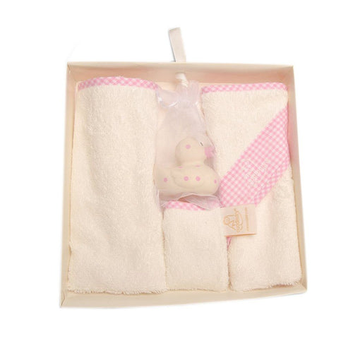 Pink Newborn Bathtime Gift Set