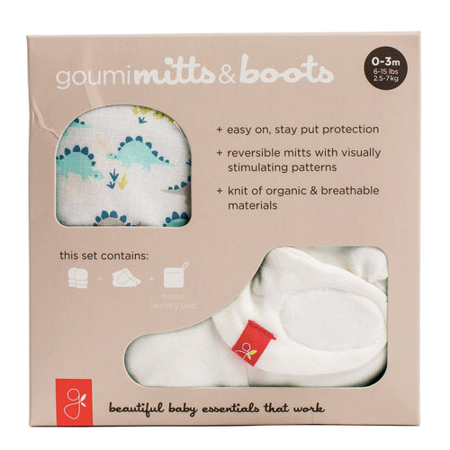 Dino Mittens and Booties Set - souzu.co.uk