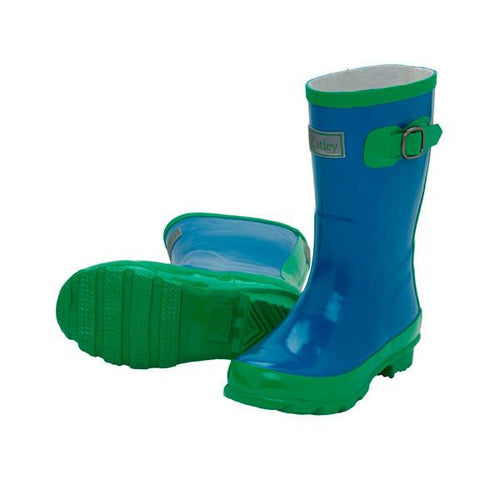 Royal/Green Rainboots - souzu.co.uk