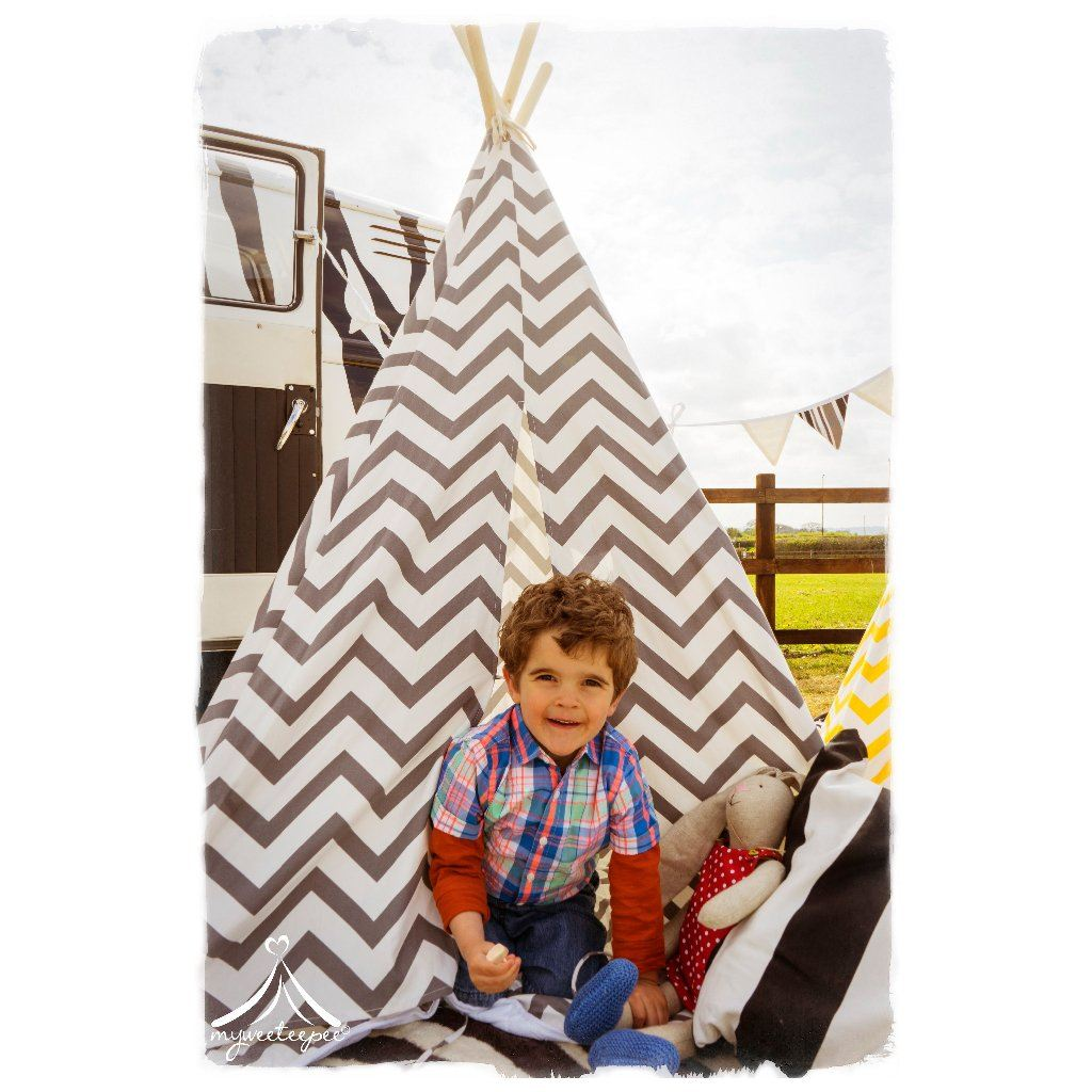 Grey Chevron Teepee