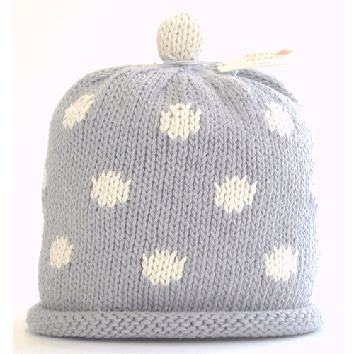 Grey Spotty Hat - souzu.co.uk