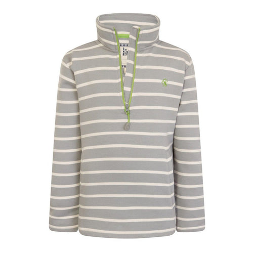 Grey Stripe Fleece Jumper - souzu.co.uk