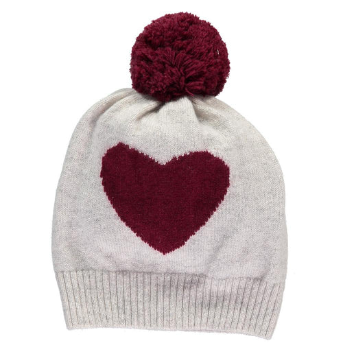 Heart, Glacier & Damson Hat - souzu.co.uk