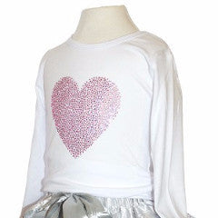 Pink Diamanté Heart Top