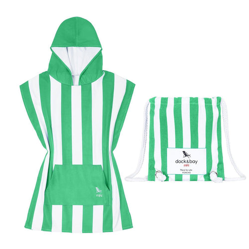 Mini Poncho Cancun Green size 2-4years - souzu.co.uk