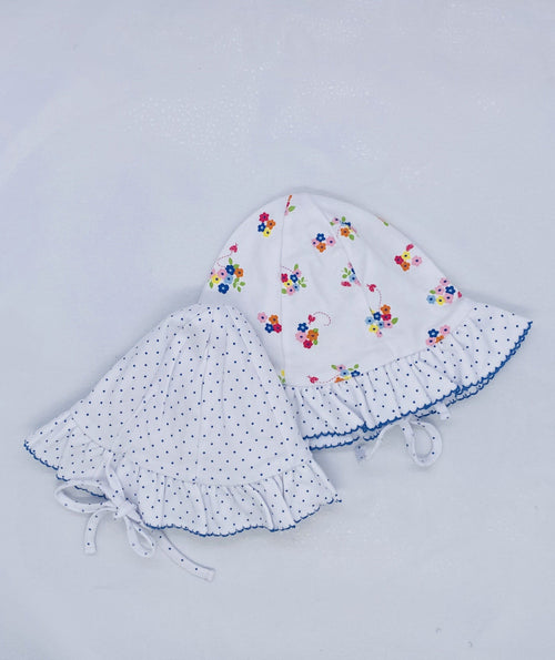 Blue Blossom Reversible Floppy Hat