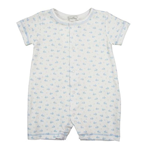 Wee Whales Print Short Playsuit - souzu.co.uk