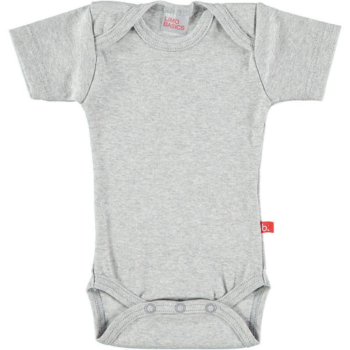 Grey Short Sleeved Bodysuit