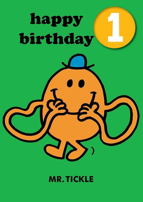 Mr Tickle Card with Badge 1 - souzu.co.uk