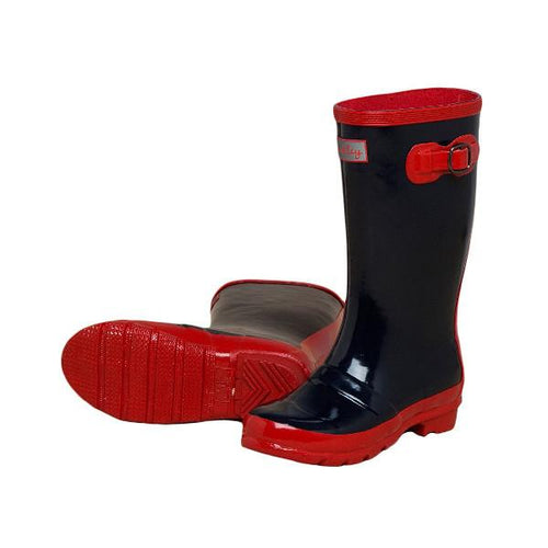 Classic Navy Rainboots - souzu.co.uk