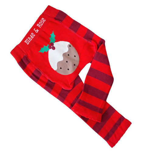 Christmas Pudding Leggings - souzu.co.uk