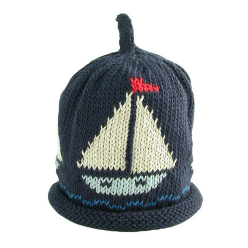 Navy Sail Boat Hat - souzu.co.uk
