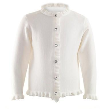 White Frill Cardigan - souzu.co.uk