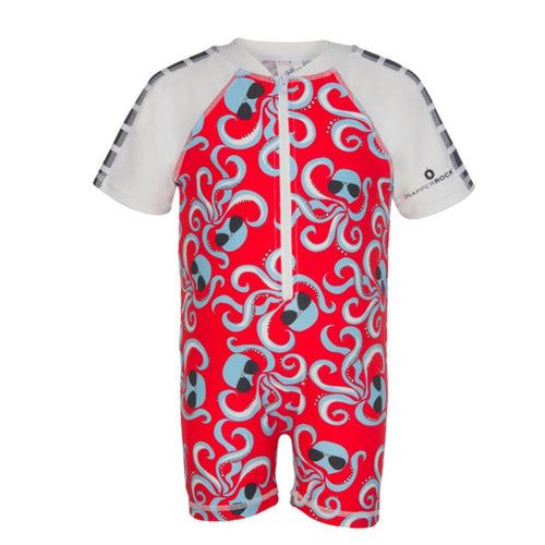 Octopus Short Sleeved Sunsuit - souzu.co.uk