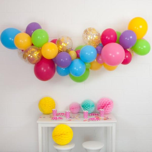 Pastel Rainbow DIY Balloon Garland