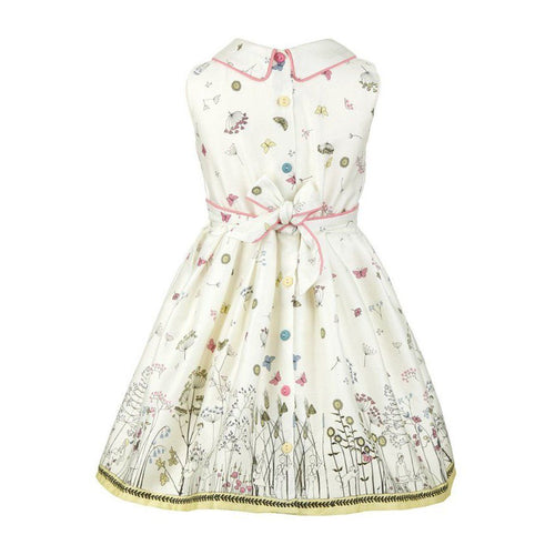 Penny Cream Butterfly Dress - souzu.co.uk