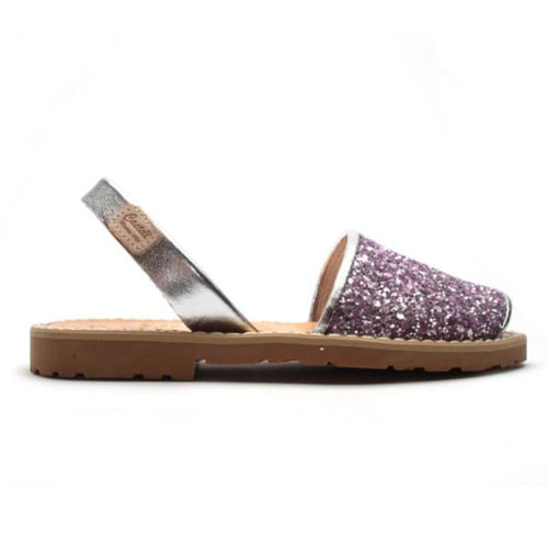 Purple Glitter Sandals - souzu.co.uk