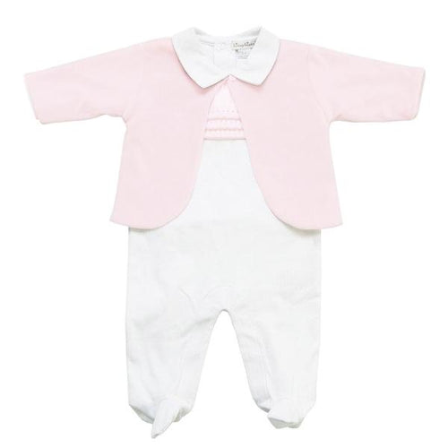 Pink Jacket & Babygrow Set - souzu.co.uk