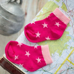 Pink Stripes and Stars Socks - 2 Pack - souzu.co.uk