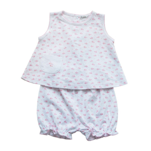 Wee Whales Print Sunsuit - souzu.co.uk