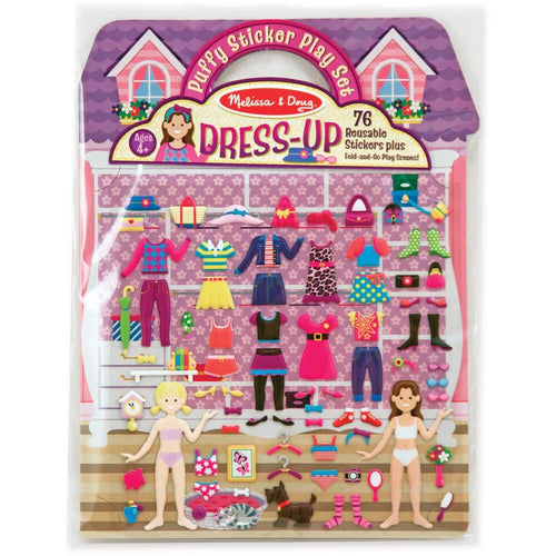 Reusable Puffy Stickers Dress-UP