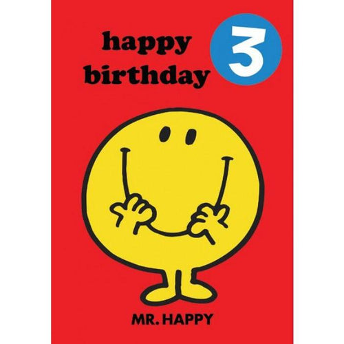 Mr Happy Card with Badge 3 - souzu.co.uk