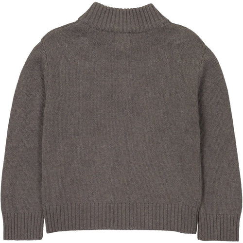 Taupe Zip Neck Sweater - souzu.co.uk