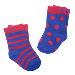 Purple and Red Circles Socks - 2 Pack - souzu.co.uk