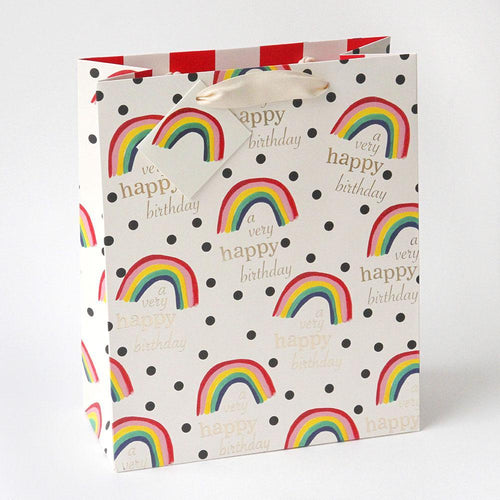 Rainbow Large Gift Bag - Caroline Gardner
