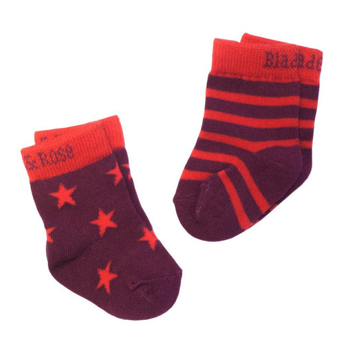 Red Stars and Stripes Socks - 2 Pack - souzu.co.uk