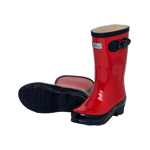 Classic Red Rainboots - souzu.co.uk