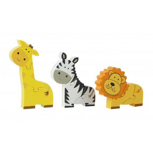 Safari Mini Puzzle Set - souzu.co.uk