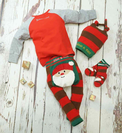 Fluffy Santa Christmas Socks - souzu.co.uk
