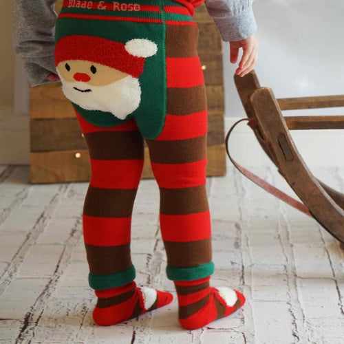 Fluffy Santa Leggings - souzu.co.uk