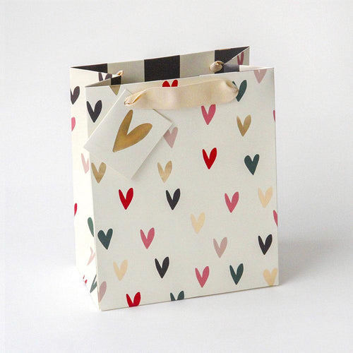 Scattered Heart Medium Gift Bag - Caroline Gardner
