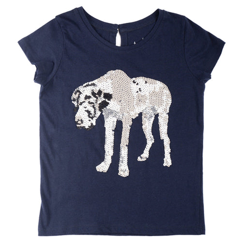 Sequin Great Dane T-Shirt - souzu.co.uk