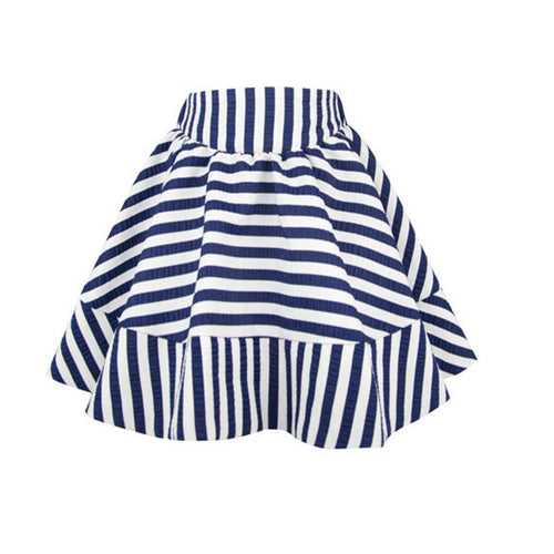 Bold Stripe Skirt - souzu.co.uk