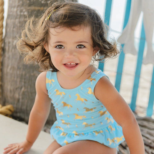 Baby Gold Horse Swimsuit - souzu.co.uk