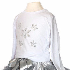 Sparkly Snowflake Diamanté Top - souzu.co.uk