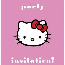 Hello Kitty Party Invitation Pack