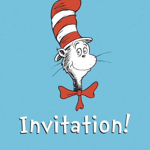 Dr Seuss Invitation Pack - souzu.co.uk