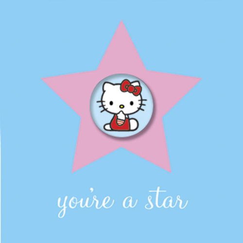 Hello Kitty Birthday Card with Badge