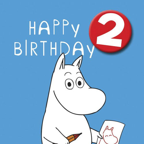 Moomin Birthday Card with Badge