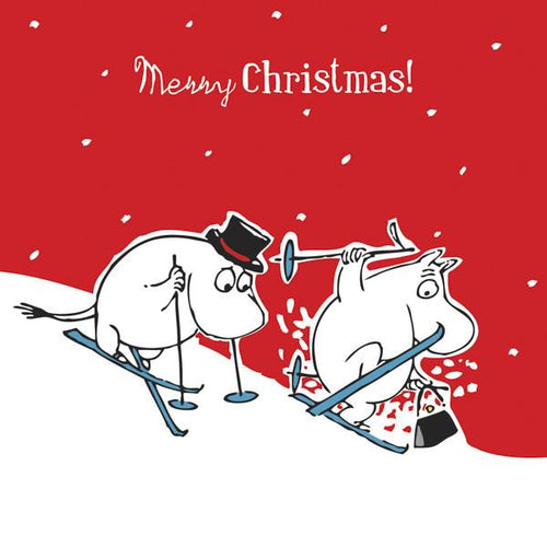 Moomin Merry Christmas Red Wrapped Card