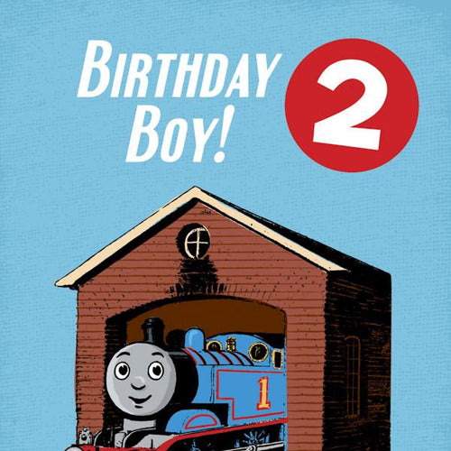 Thomas Birthday Card with Badge