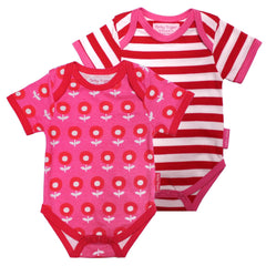 Baby Pink Flower Top - Pack of 2 - souzu.co.uk