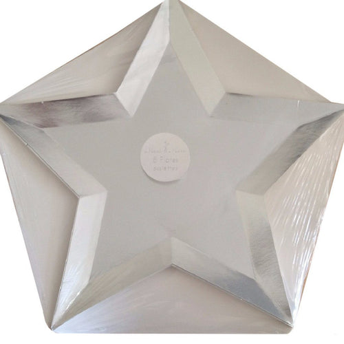 Star Silver Foil Plate - souzu.co.uk