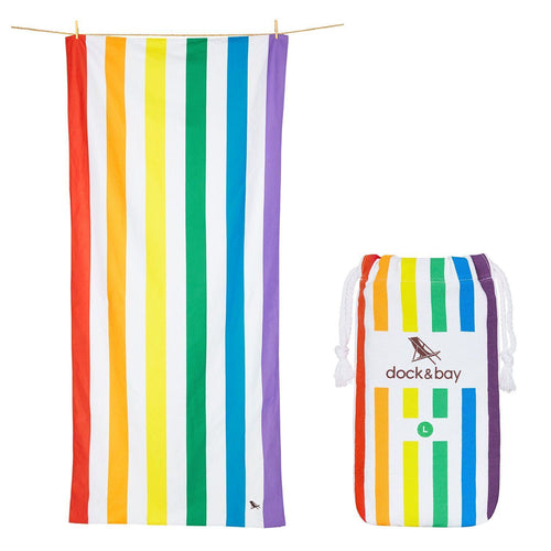 Rainbow Large Towel - souzu.co.uk
