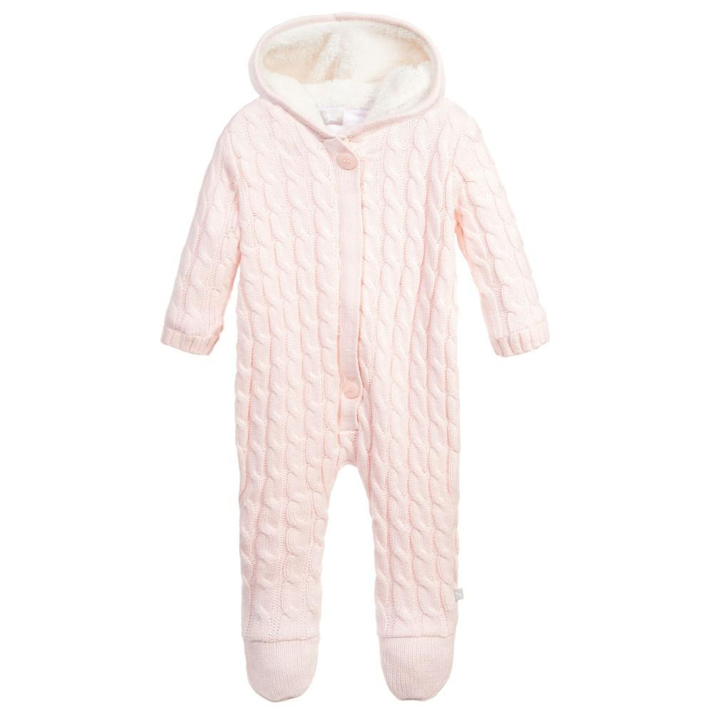 299ad16e2 The Little Tailor Pink Cashmere Knitted Pramsuit